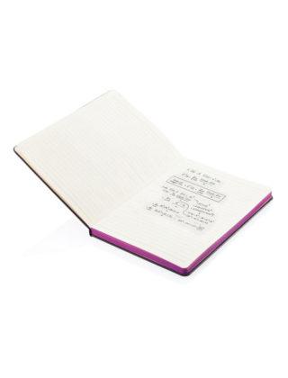 4) Carnet Deluxe bord coloré A5 – Personnalisable