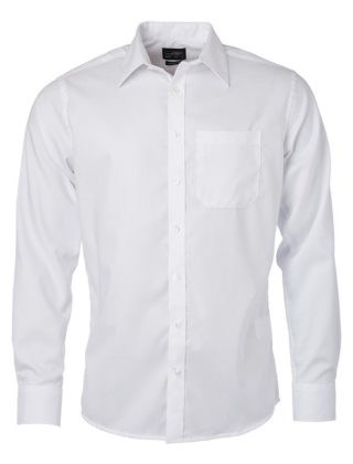 Chemise Homme Micro-Twill Manches Longues – Personnalisable