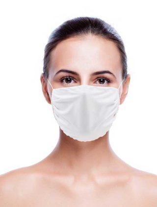Masque microfibre blanc